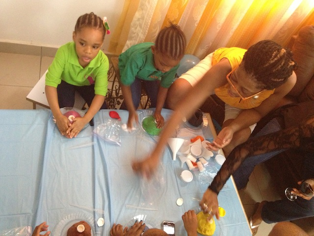 making the volcanos