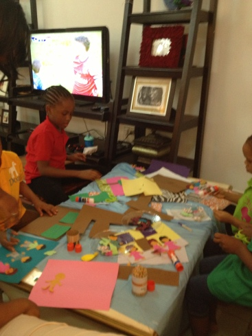 It looked messy but I just stepped away and they created!