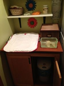 Changing table/Area for physical care