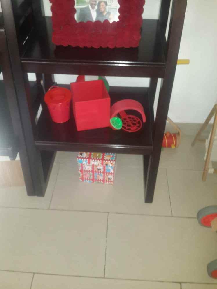 Red shelf