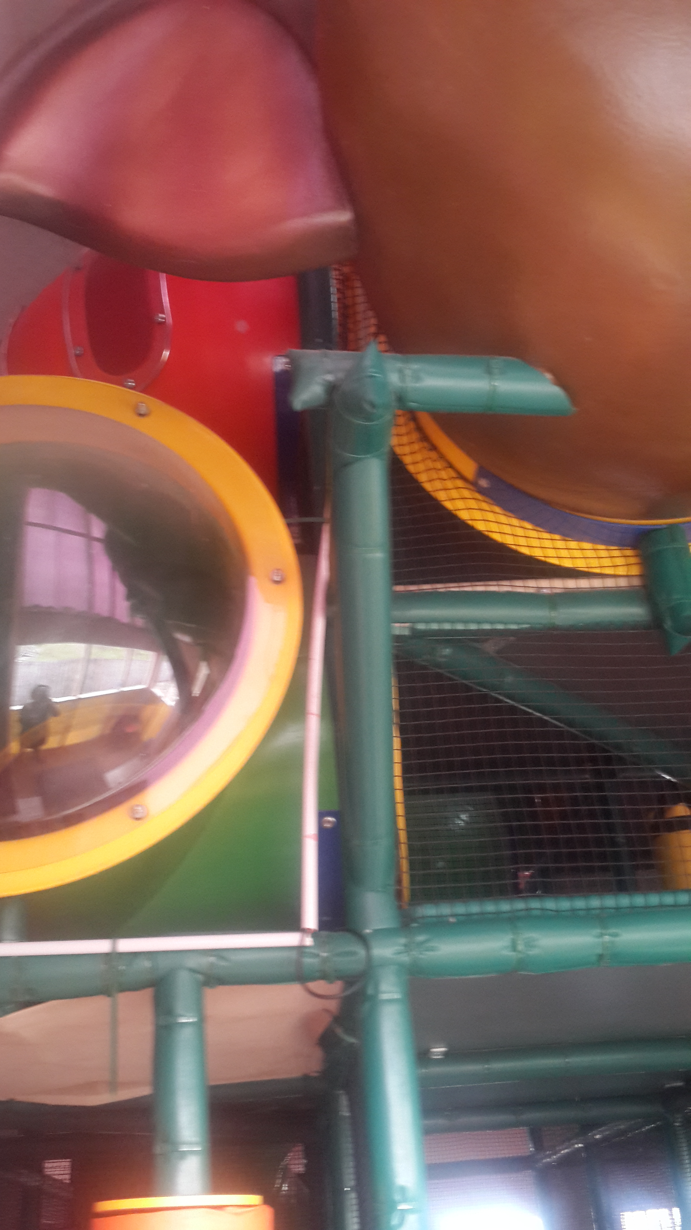 Hard to get pictures but a lot of great climbing equipment and slides for older children