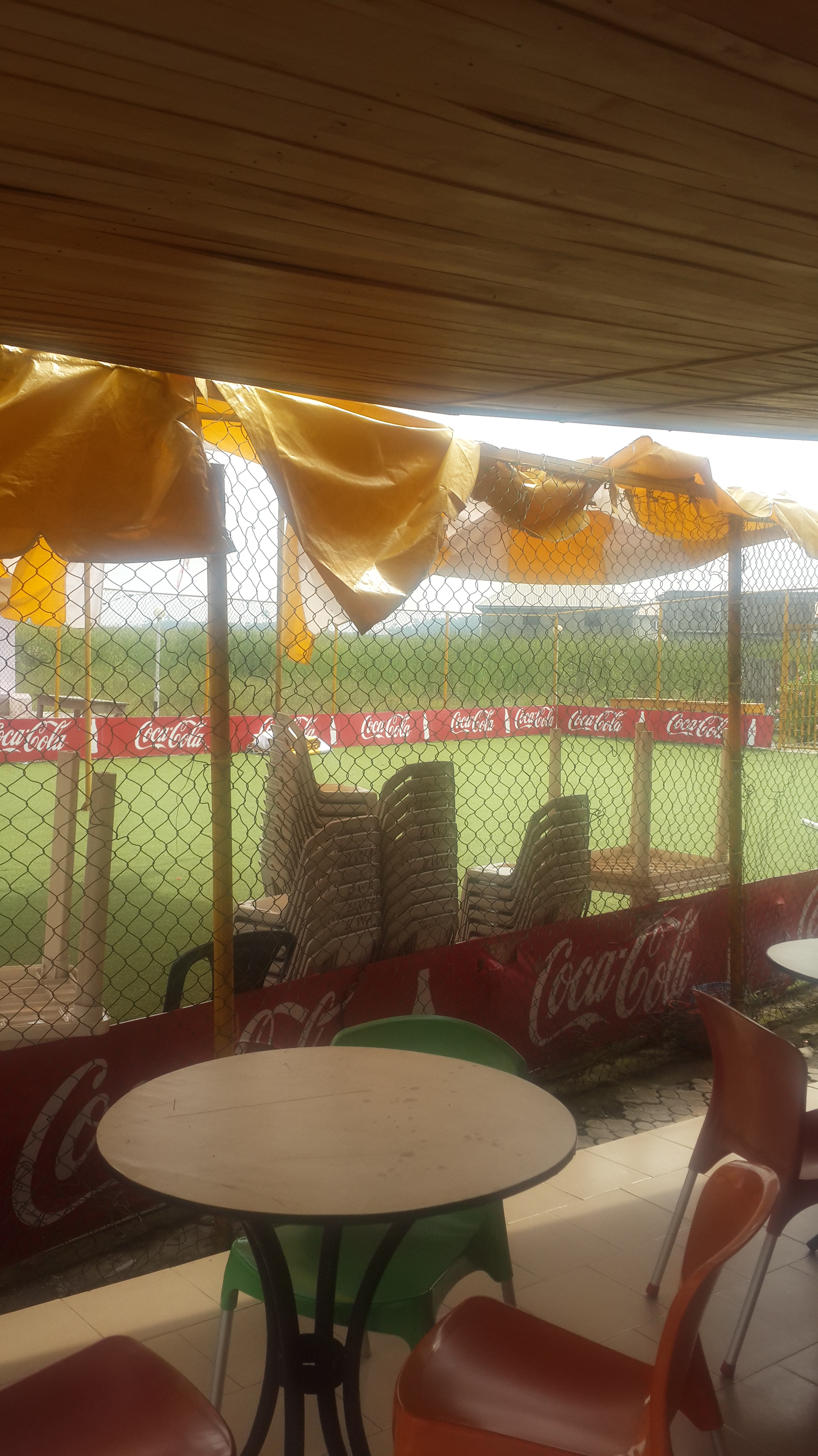 Area available to rent for parties. Includes canopies and chairs.