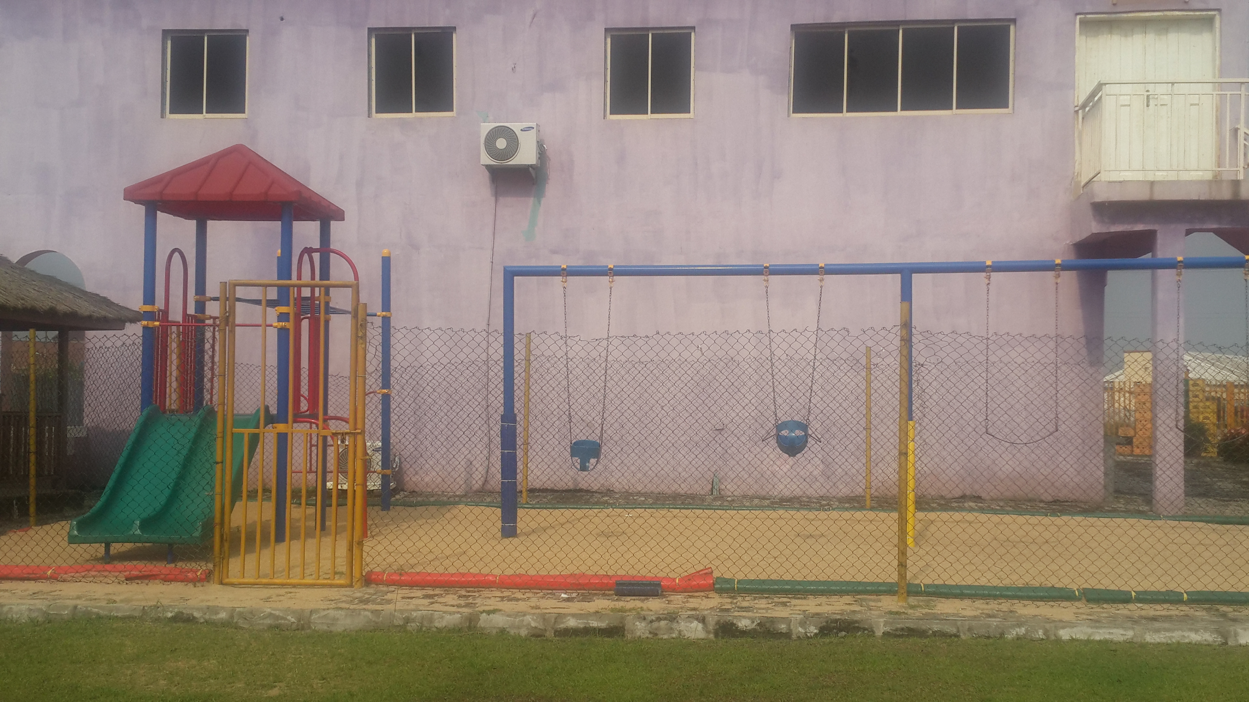 Outdoor play area... free with entry. I love that they have toddler swings.